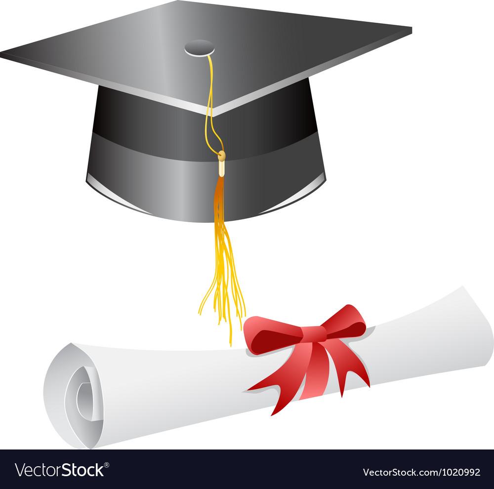 Graduation Cap And Diploma Royalty Free Vector Image