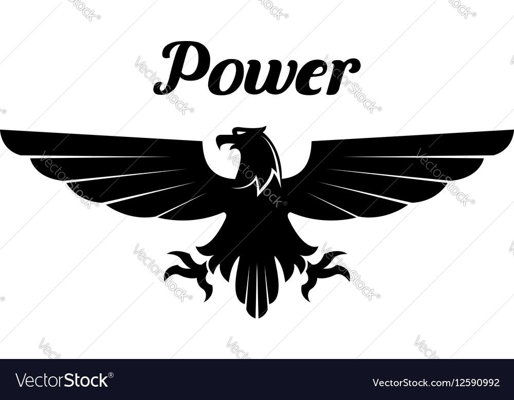 Heraldic black eagle or vulture icon