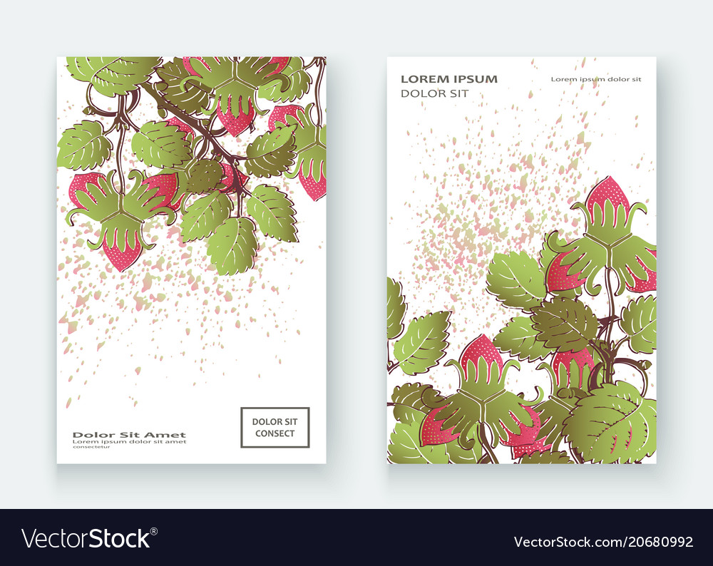 Strawberry pattern design templates product hand