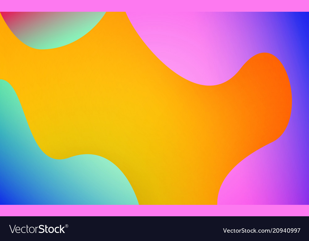 Abstract fluid shapes colorful background trendy