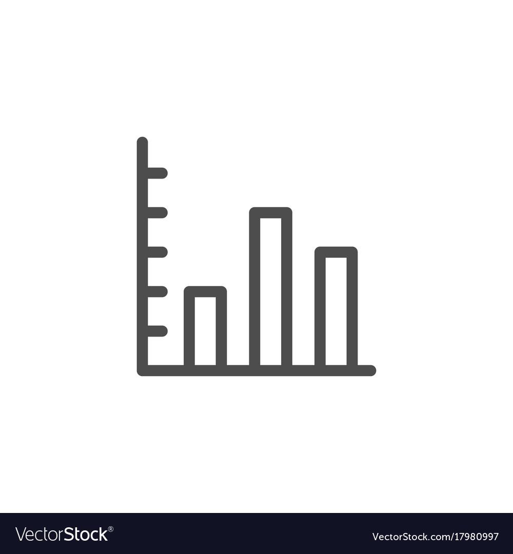 Bar chart line icon