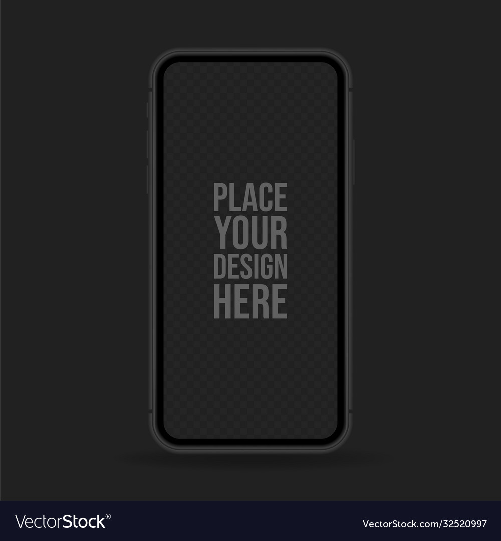 Black realistic smartphone mockup