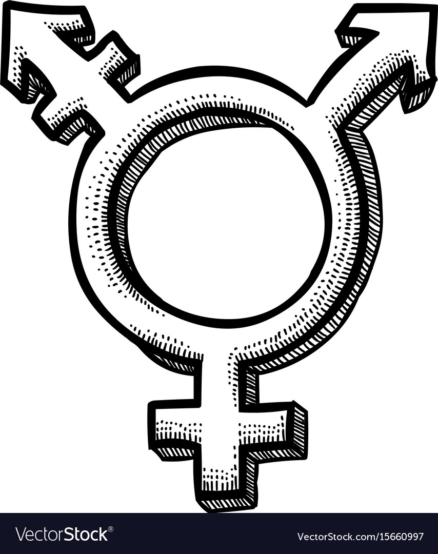 Cartoon Image Of Transgender Icon Gender Symbol Vector Image