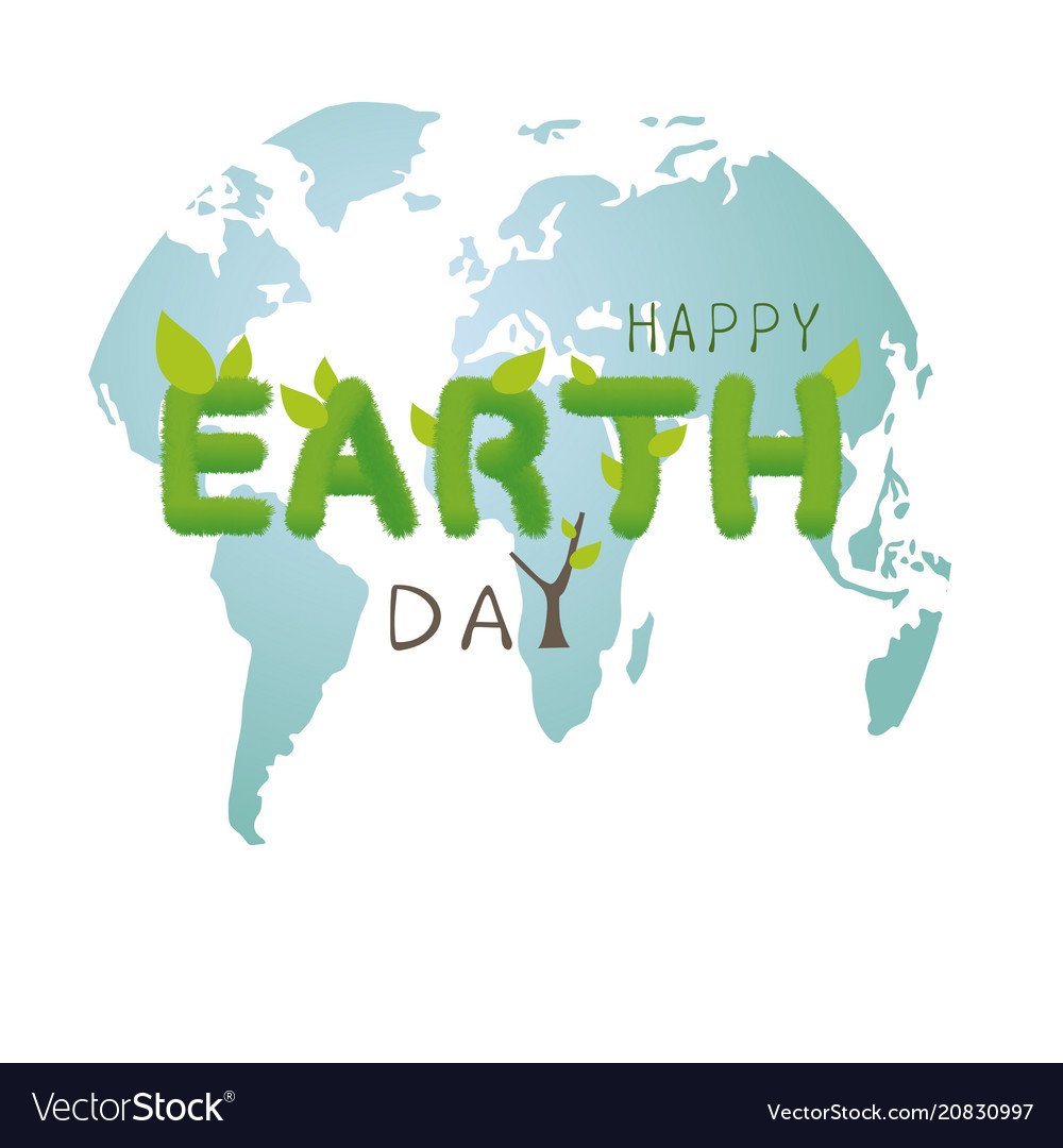 Earth day concept design on white background