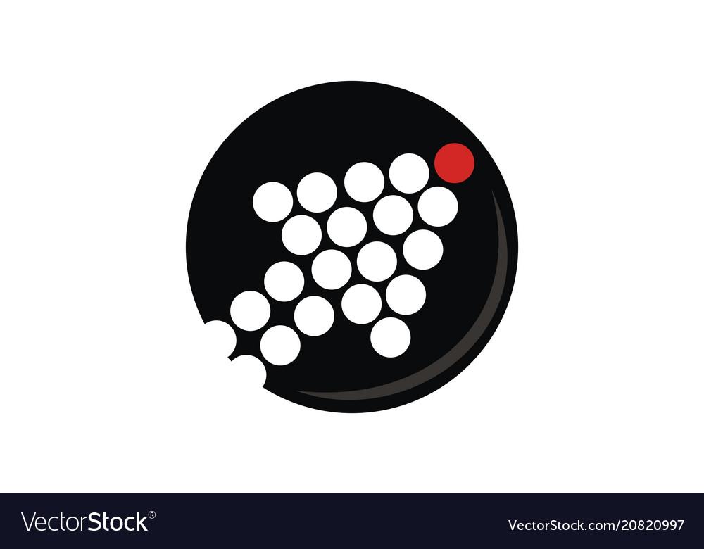 Leadership success logo design template vector image
