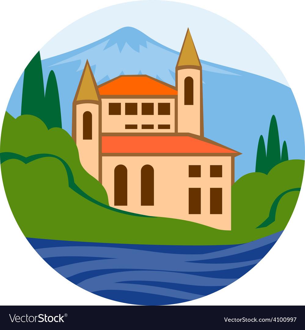 Sea villa Real estate company logo concept