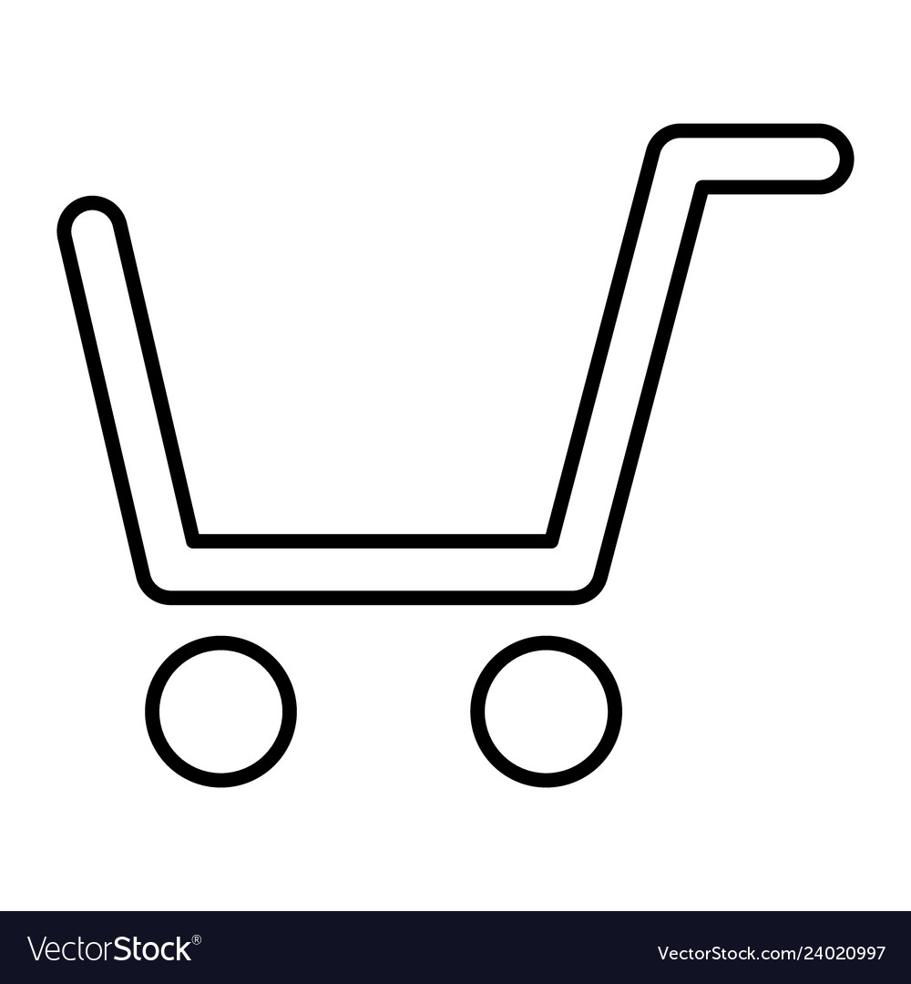 Shopping cart thin line icon market cart