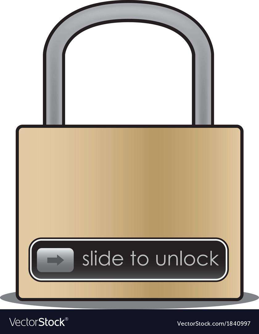 Slide to unlock vector image