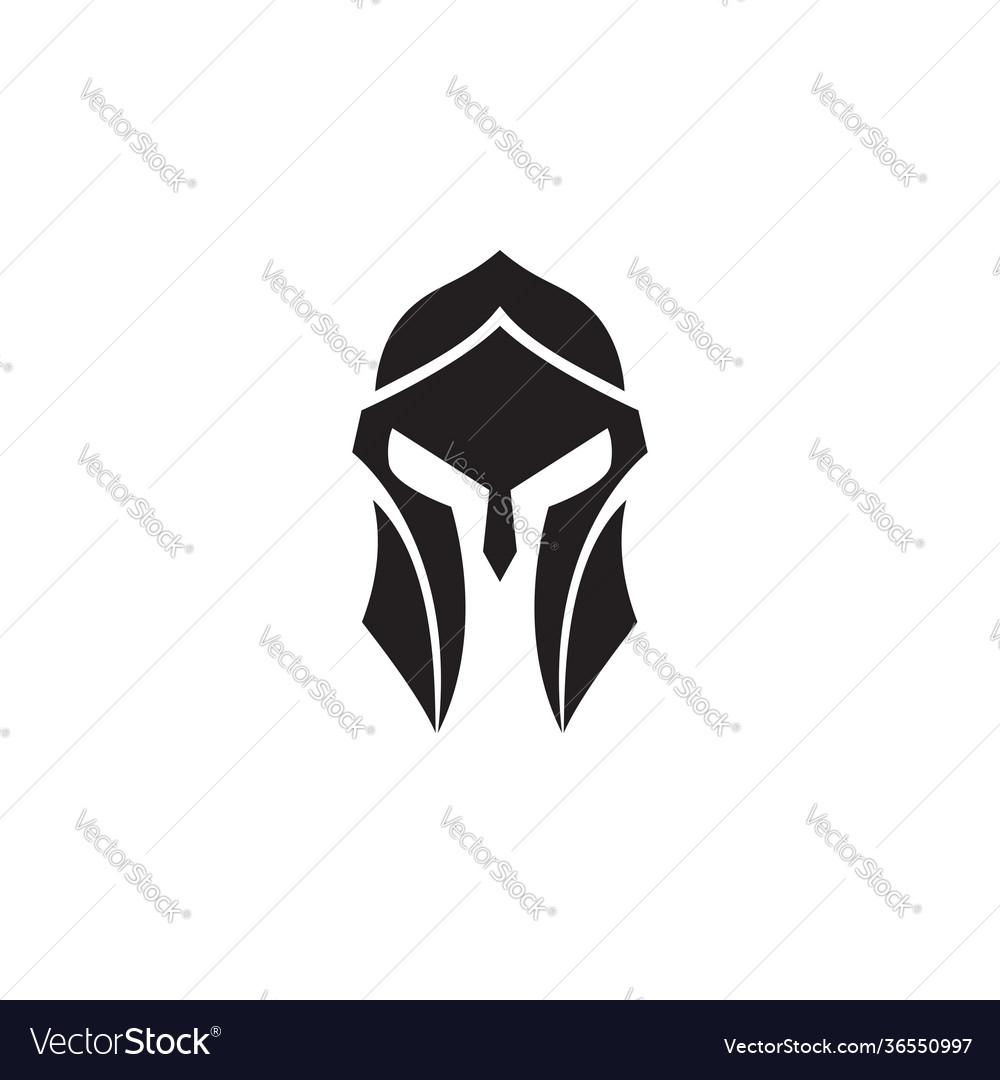 Spartan helmet black and white logo