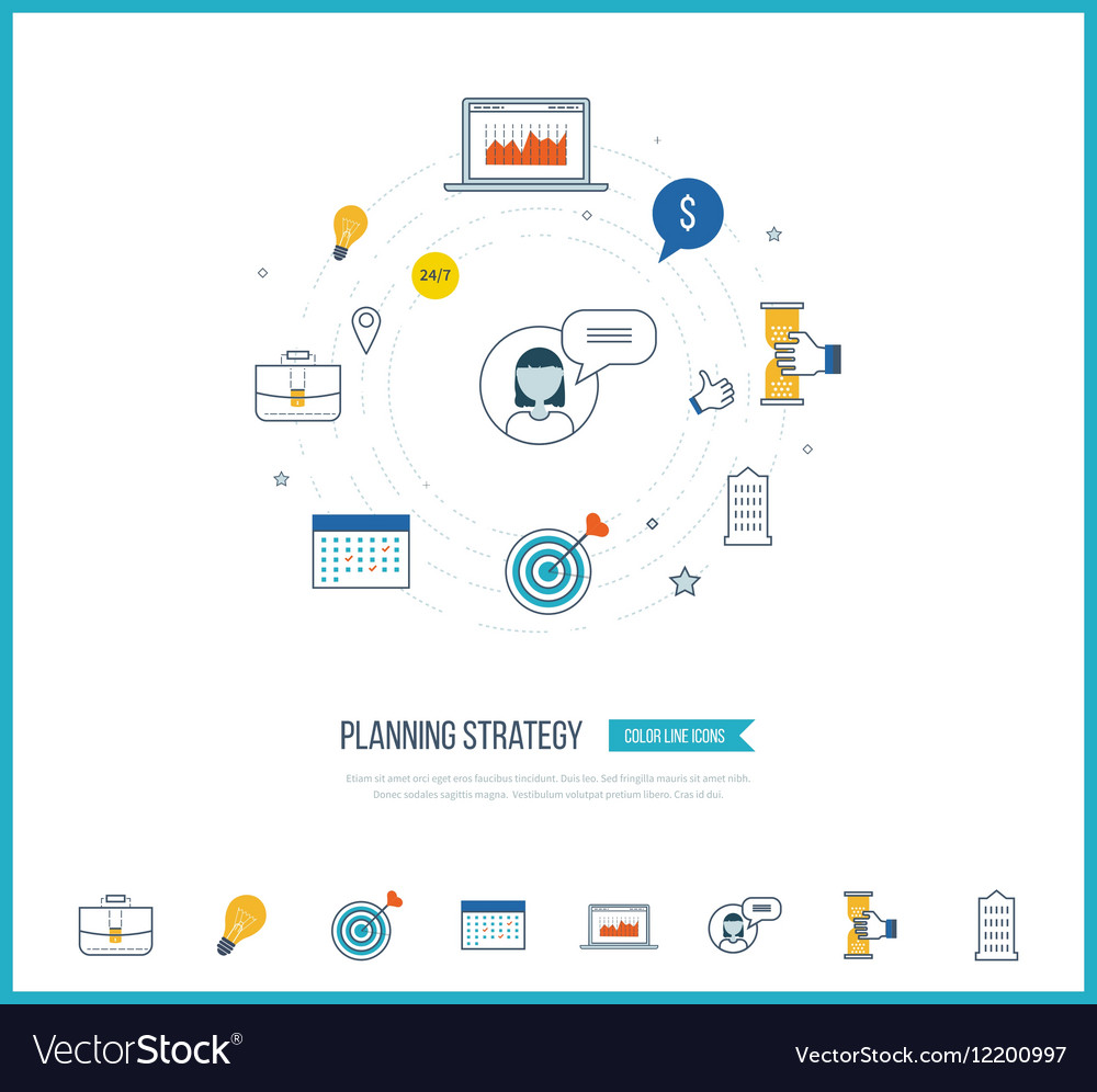 Strategy planning concept Investment management