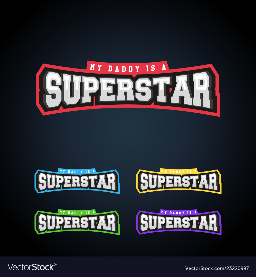 Superstar power full typography t-shirt graphics