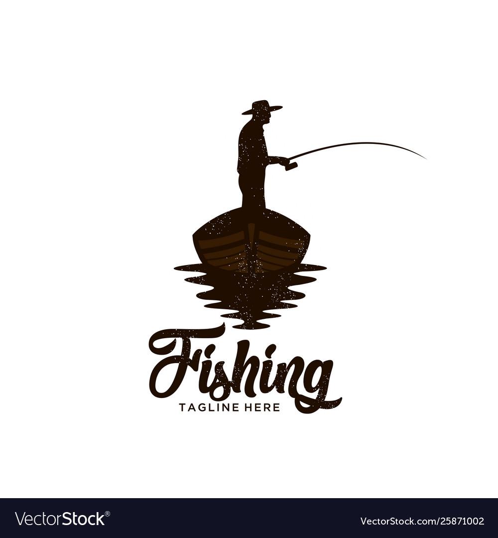 Download Fishing Logo Royalty Free Vector Image Vectorstock