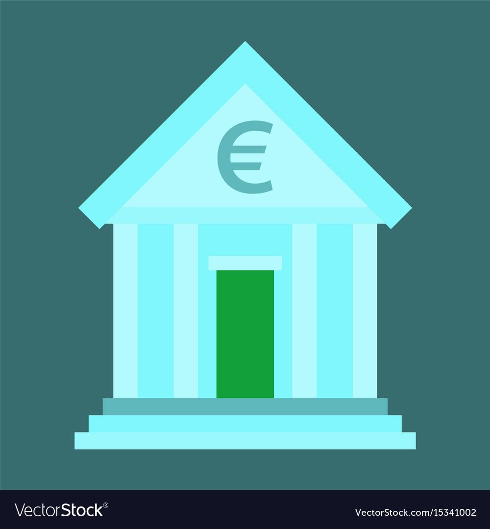 Flat icon on stylish background business bank