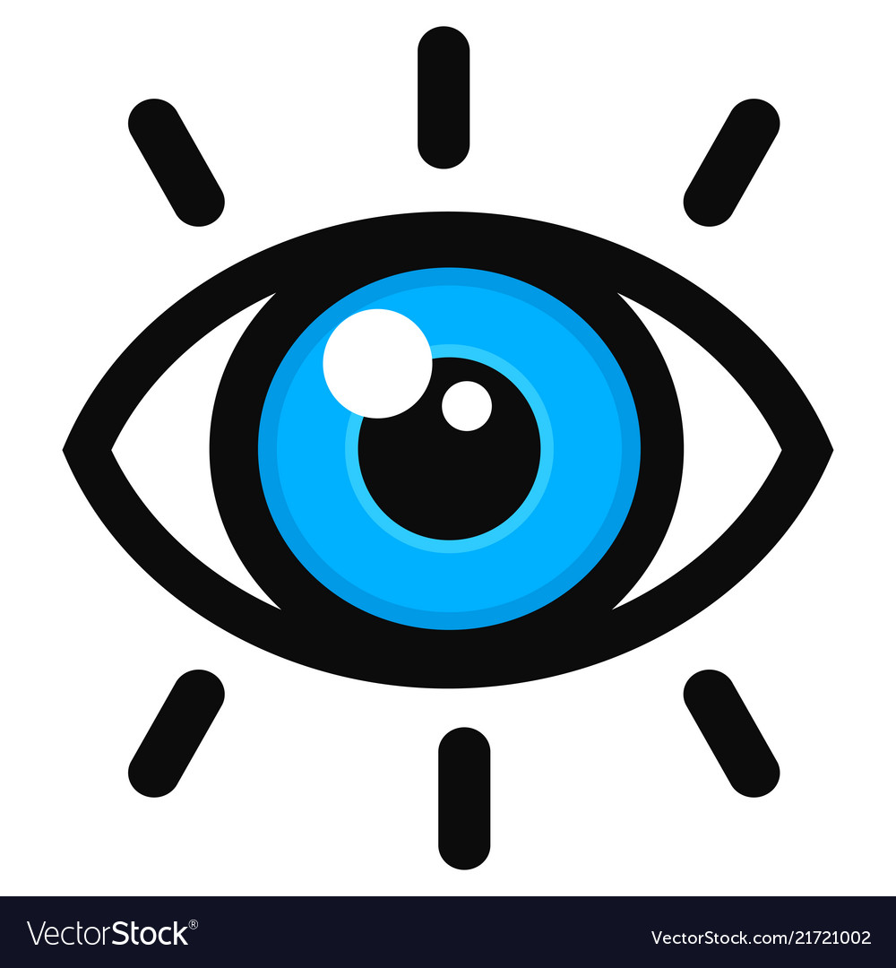Open eye color icon