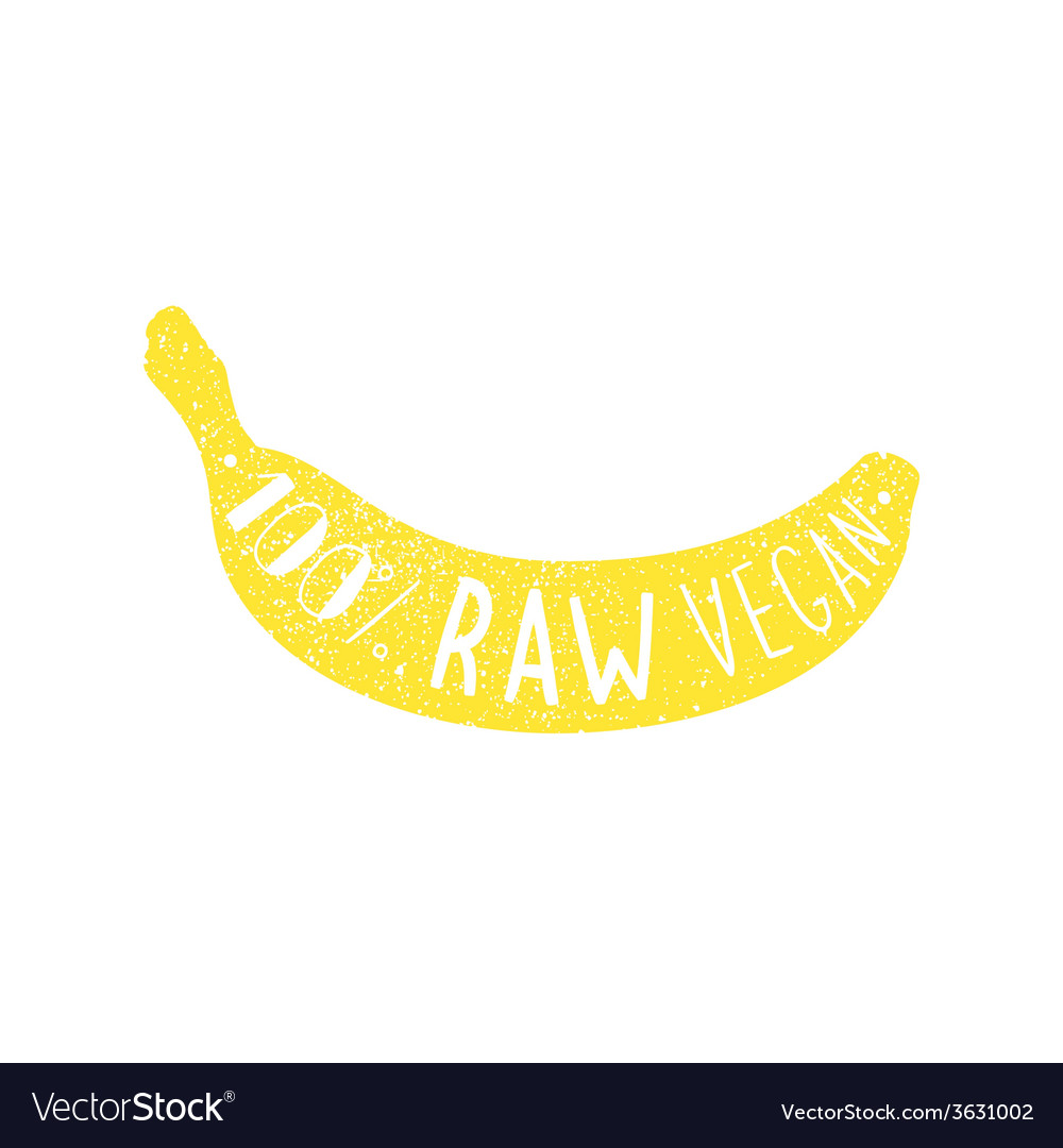 Raw vegan banana label
