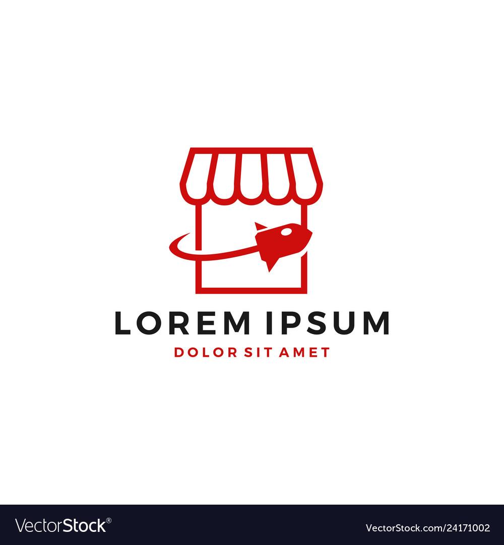 Rocket shop store logo icon download