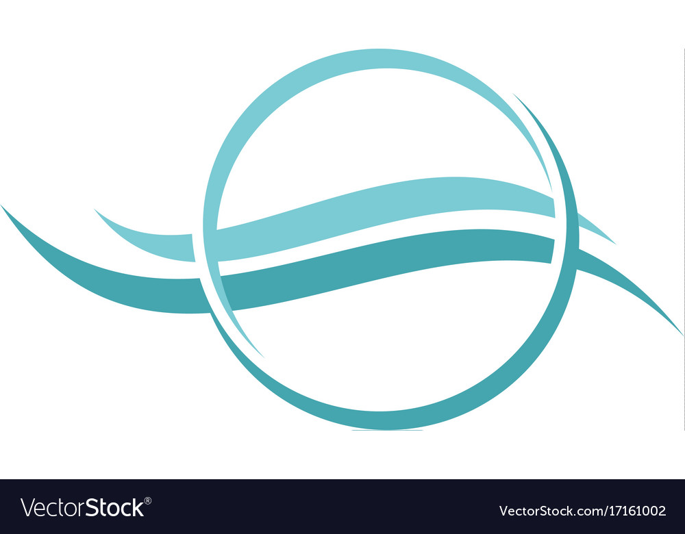Water air flow cool abstract logo