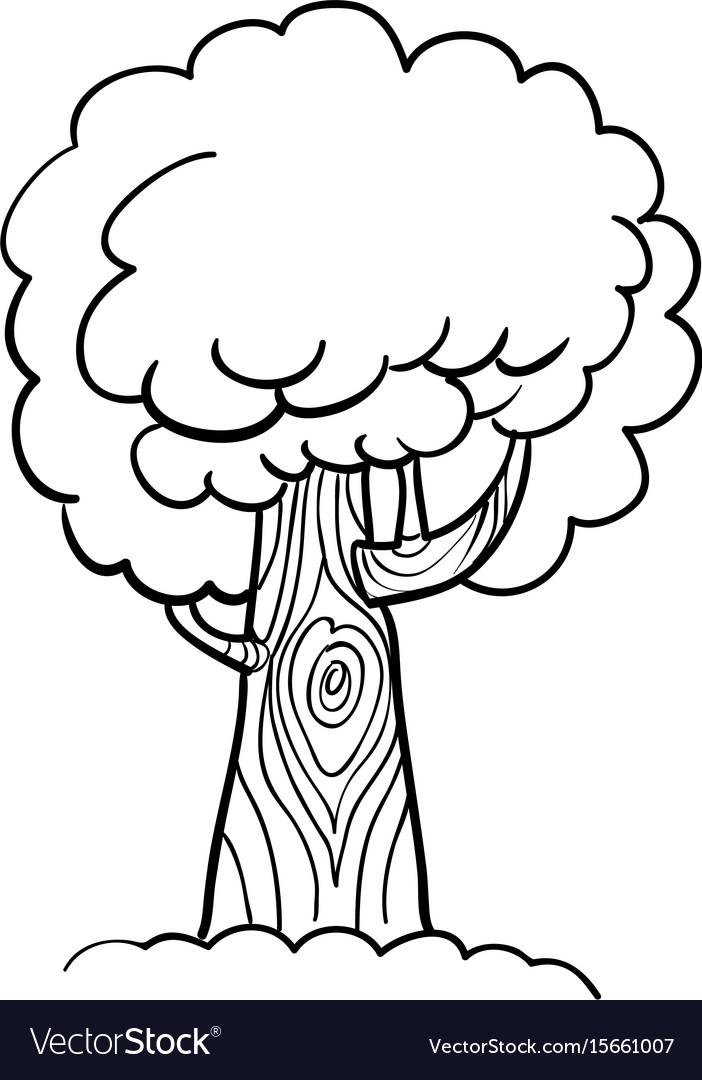 Cartoon image of tree icon tree symbol vector image