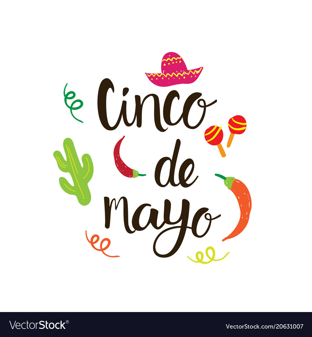 Cinco de mayo mexican holiday greeting card hand vector image m4hsunfo