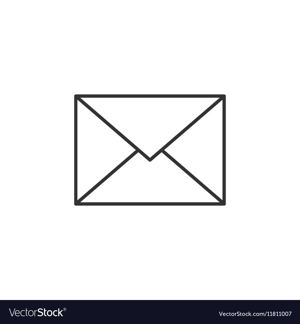 Envelope thin line icon