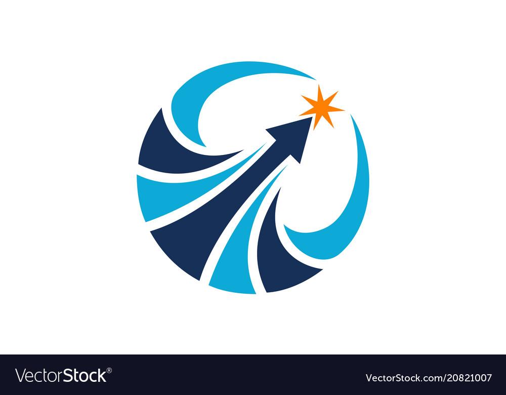 leadership success logo design template royalty free vector