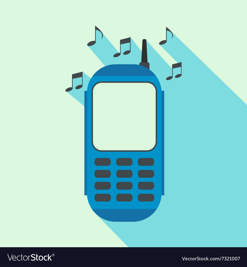 Phone with music flat icon