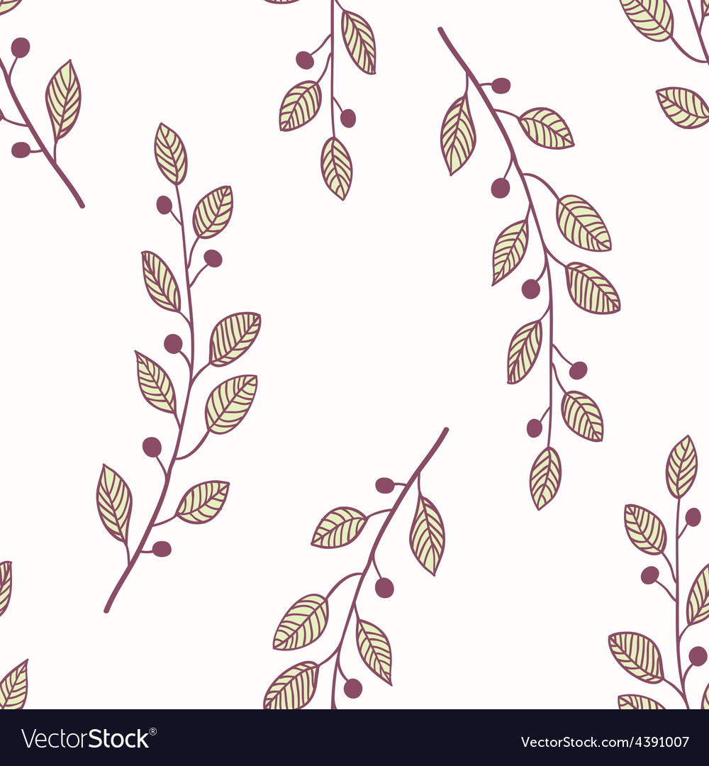 Seamless pattern background with branch