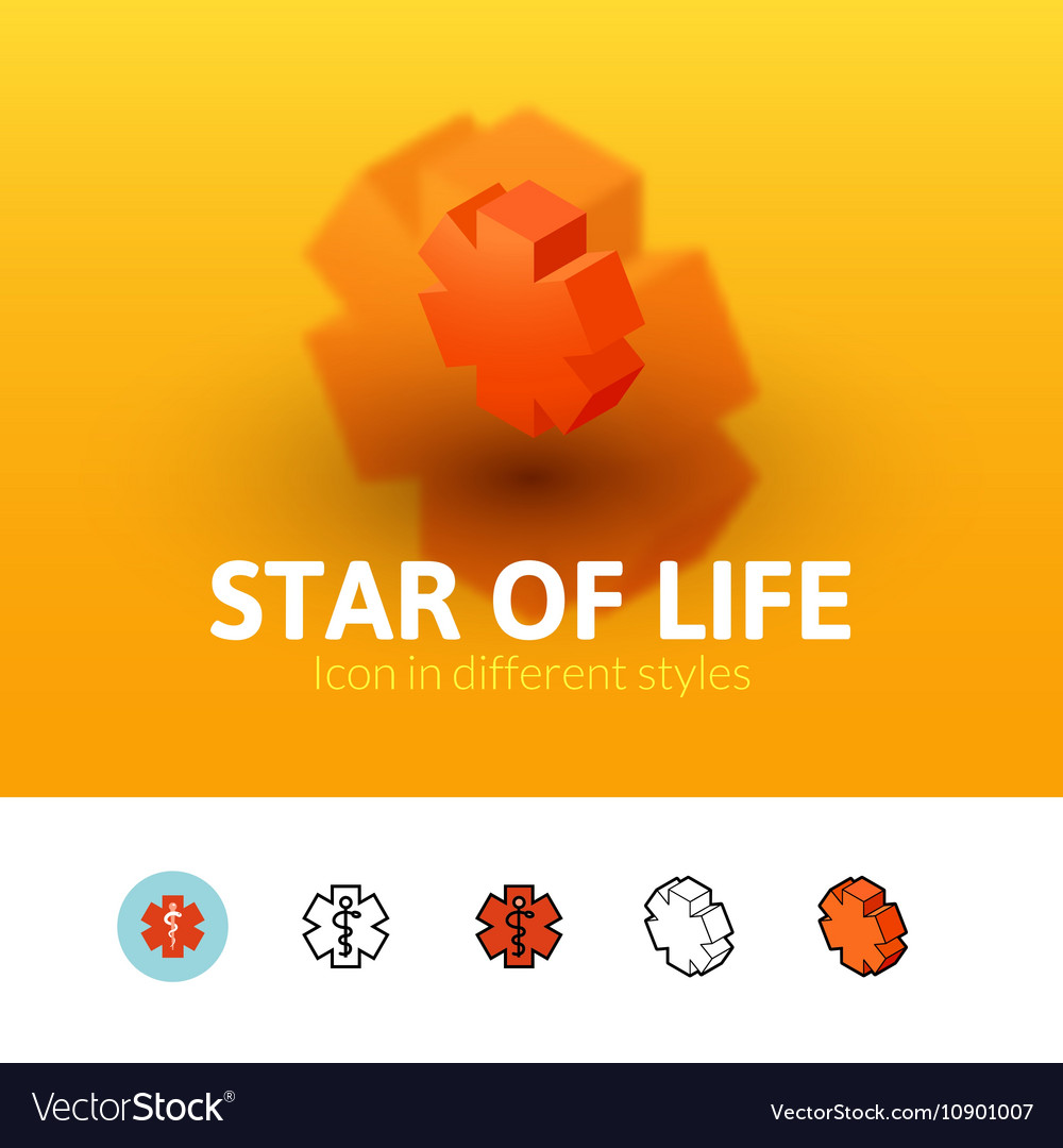 Star life icon in different style