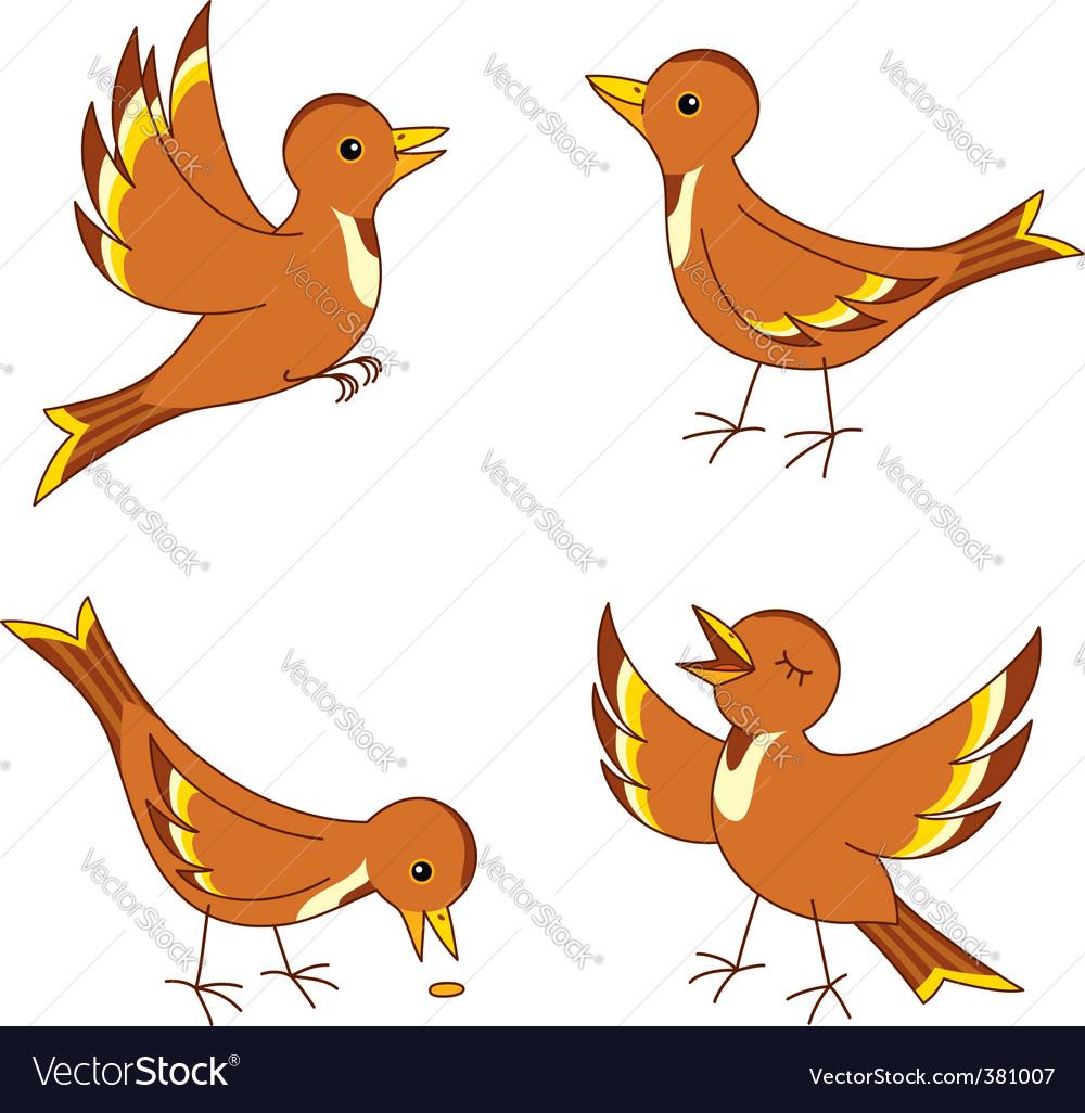 Vector birds vector image