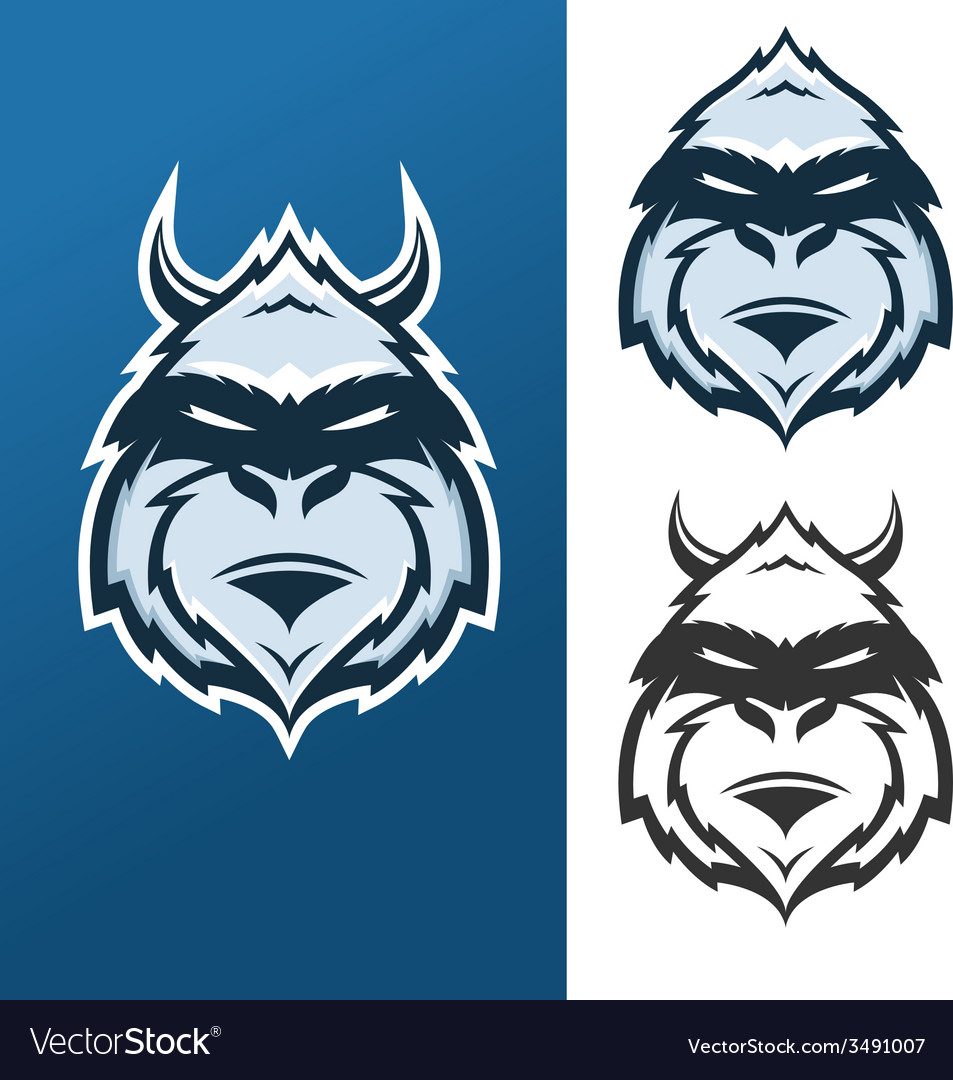 Yeti mascot for sport teams vector image