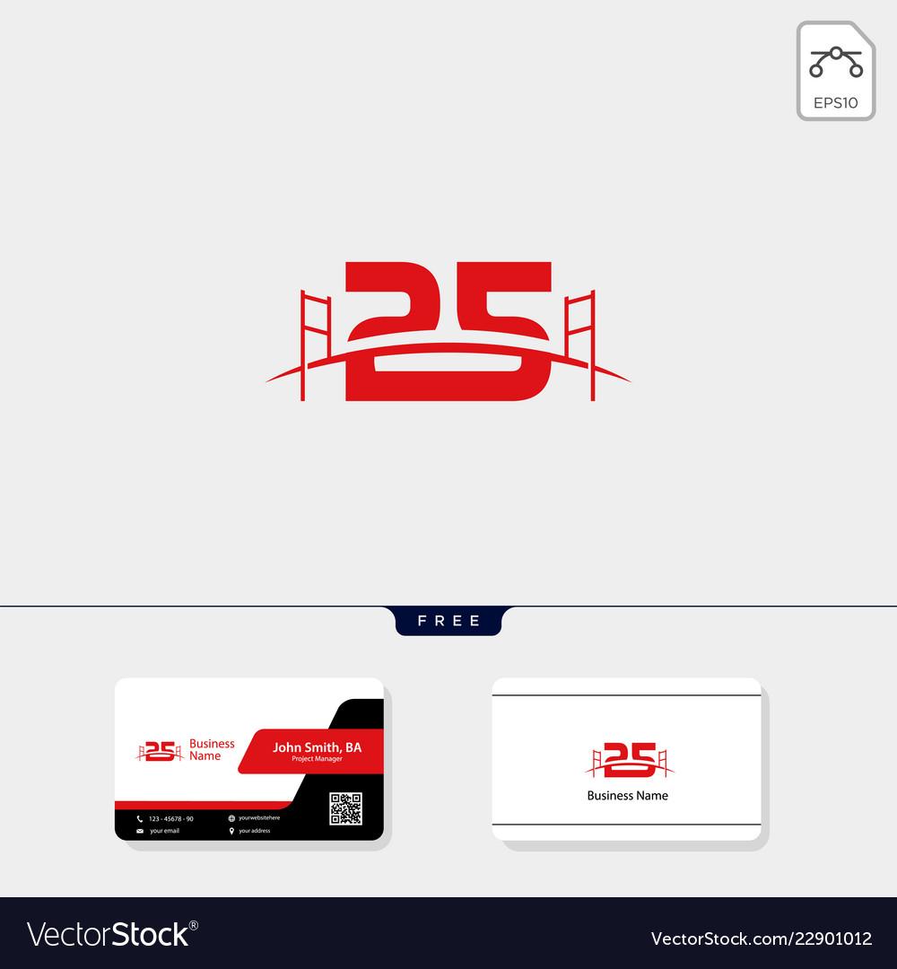 25 bridge building logo template business card