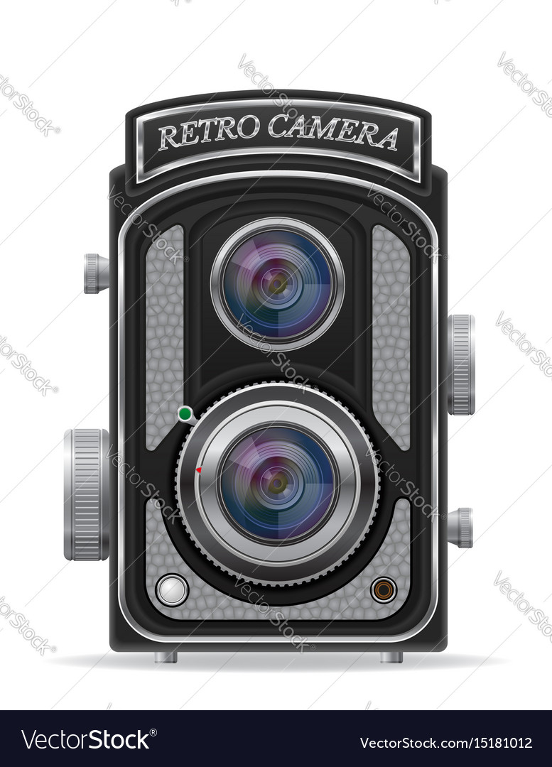 Camera photo old retro vintage icon stock