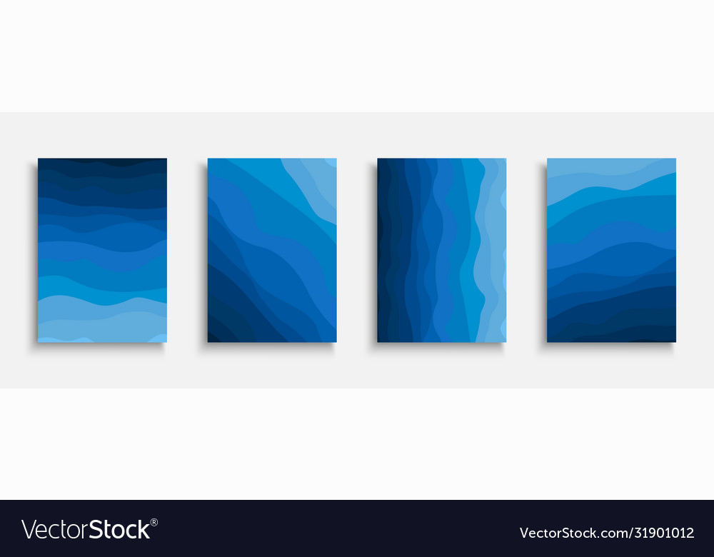 Collection creative artistic wavy covers