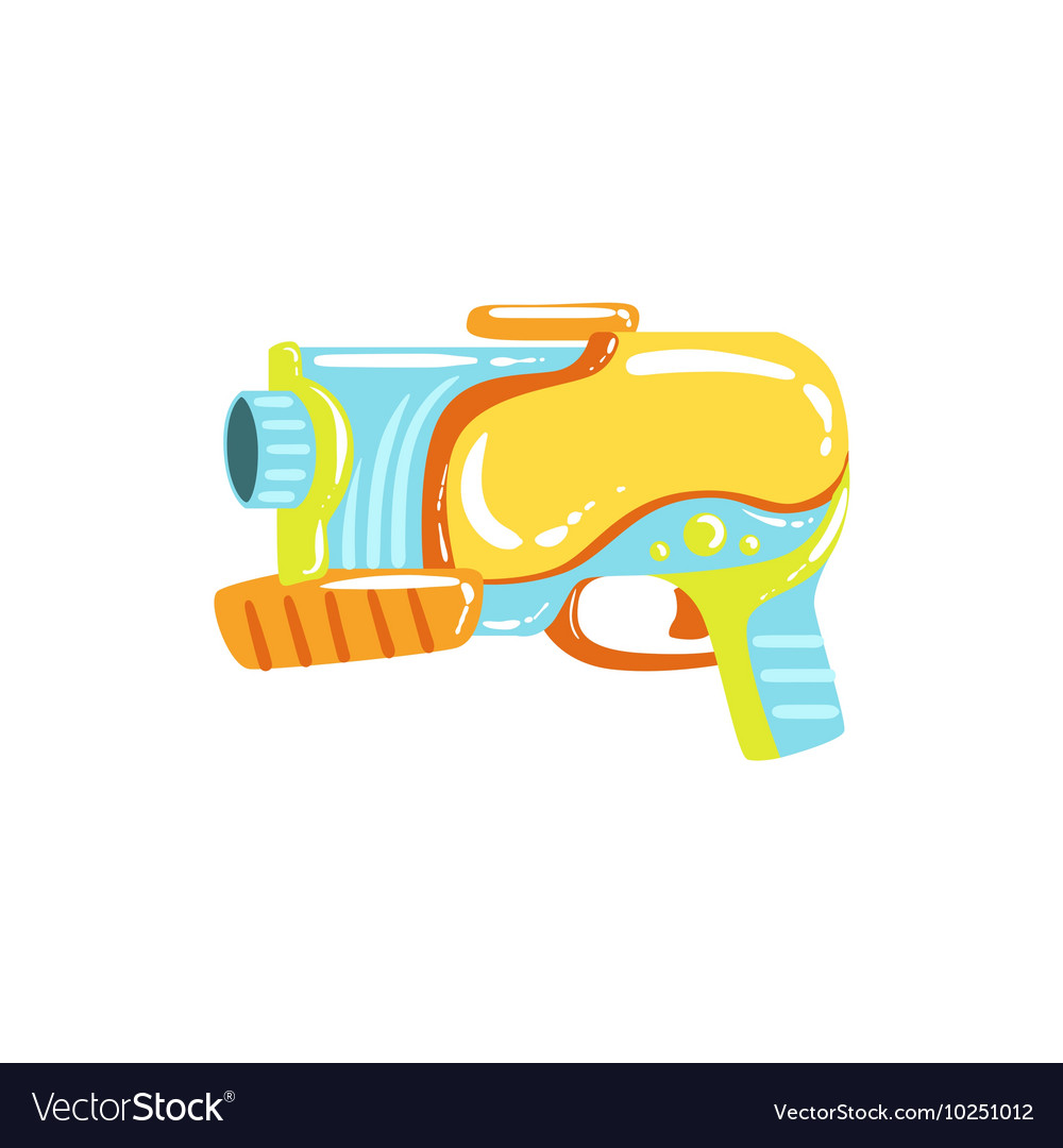 Colorful Fantastic Water Pistol vector image