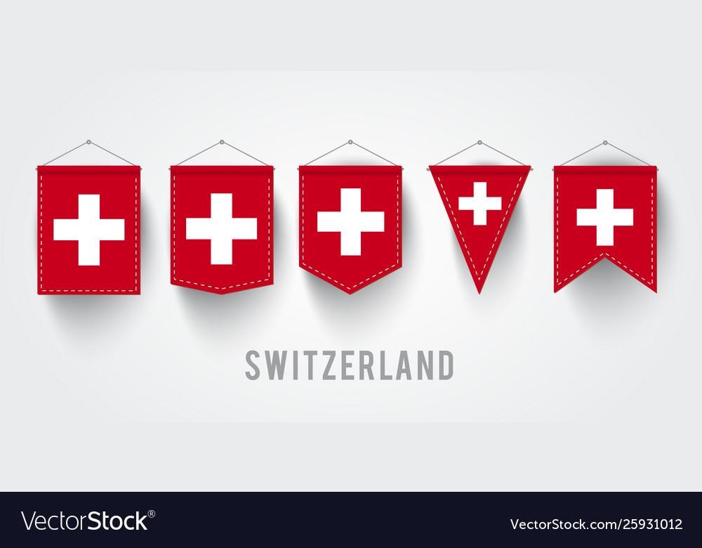 Different switzerland flag set