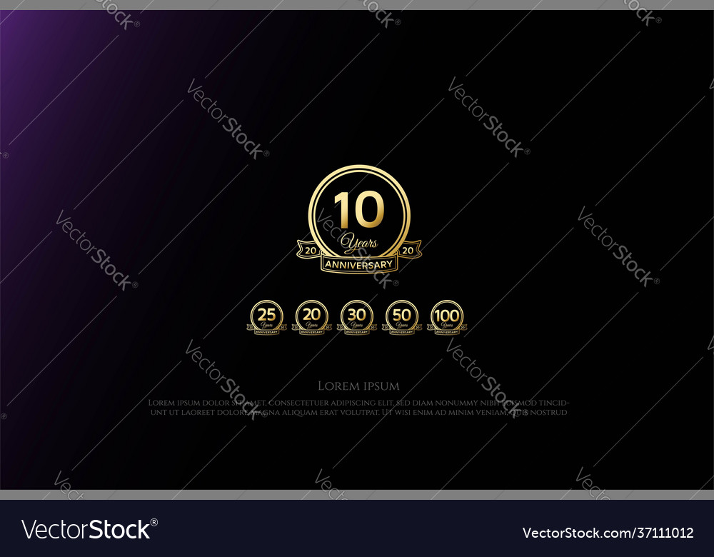 Elegant luxury 10 20 25 30 50 75 100 years