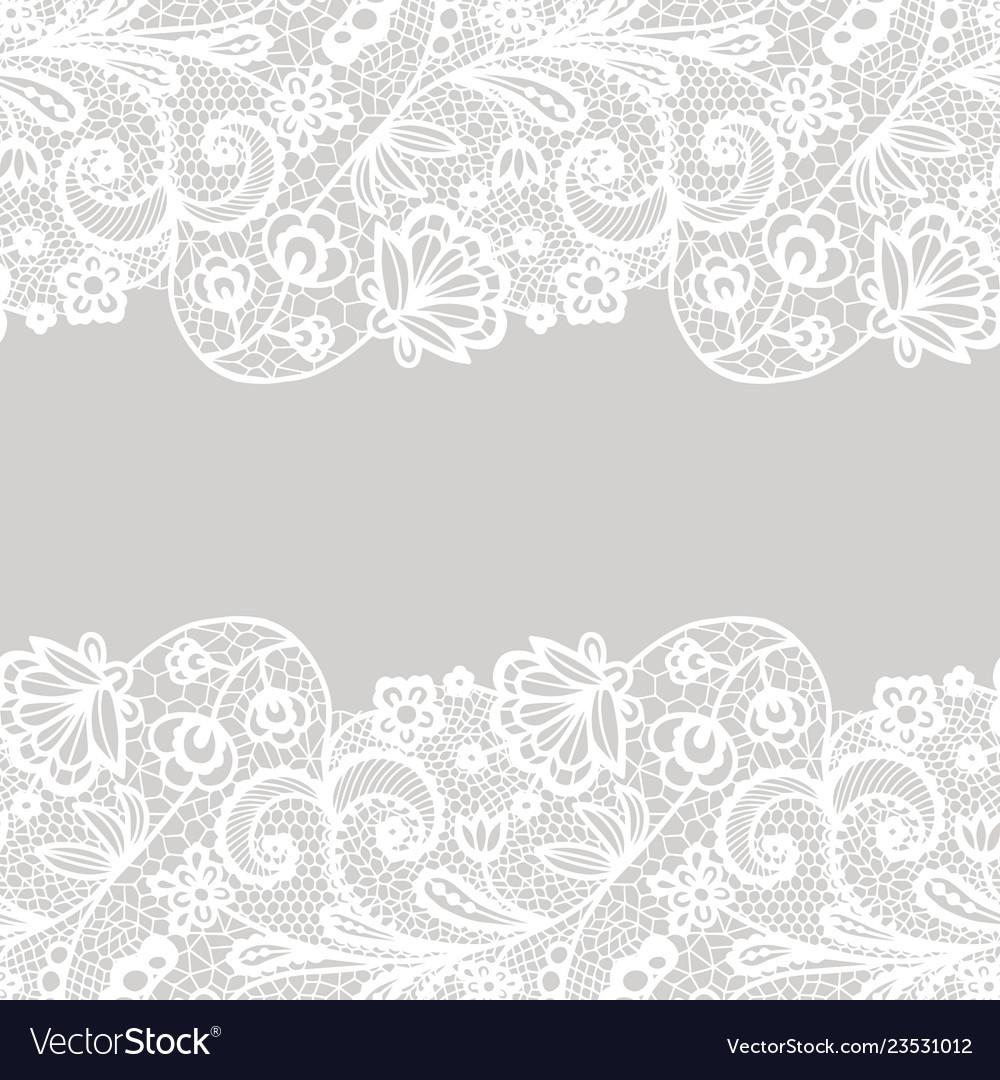 seamless lace border invitation card royalty free vector