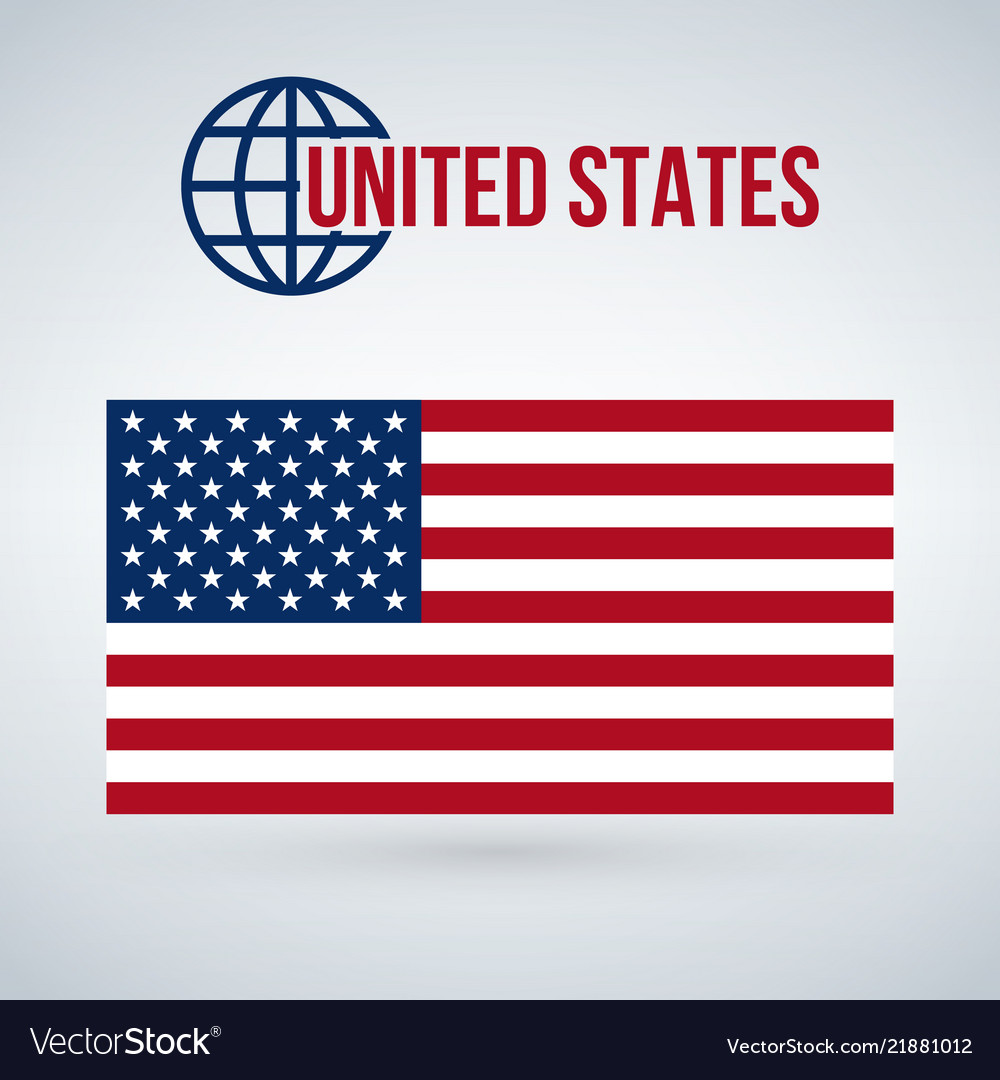 United states flag isolated on modern background