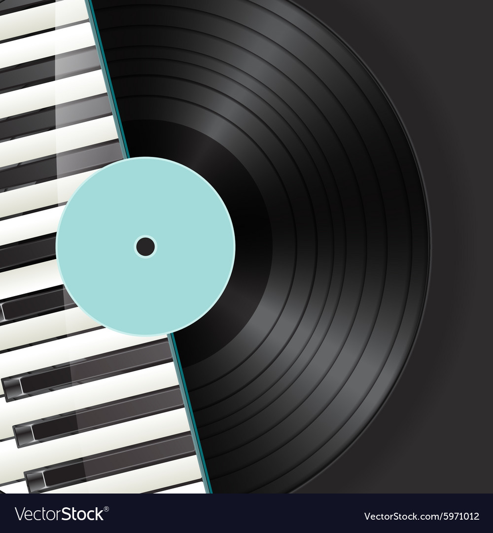 Vinyl piano background