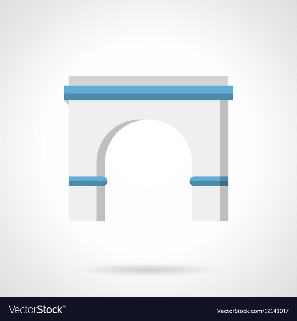 Architecture arch flat color icon