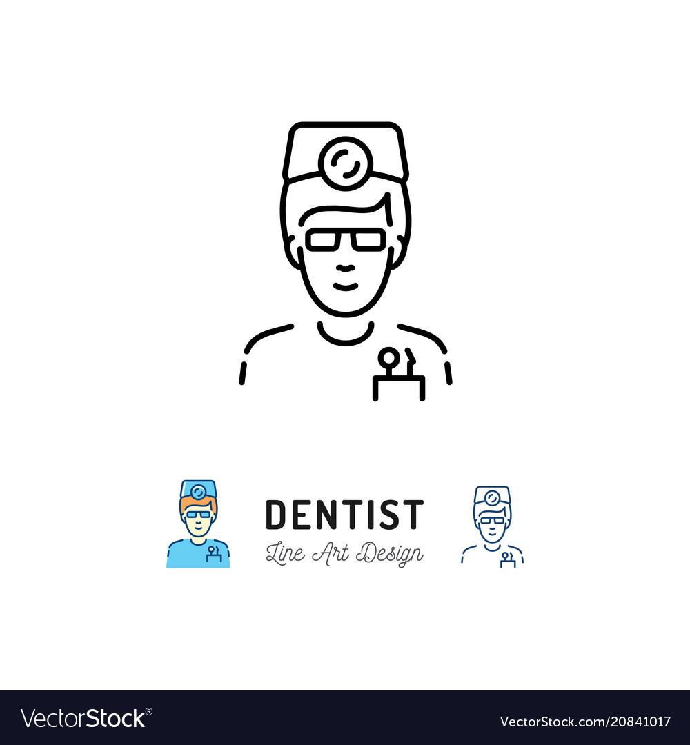 Dentist icon dental surgeon doctor therapist