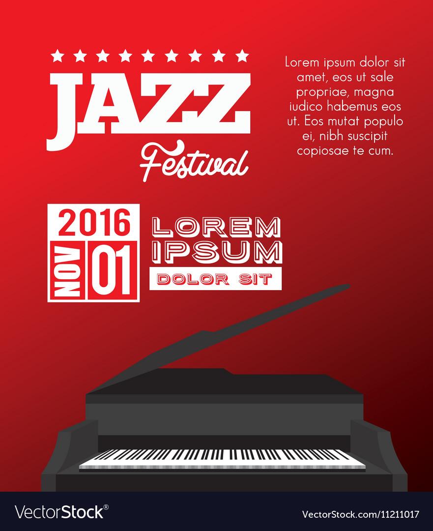 Festival jazz celebration music desing