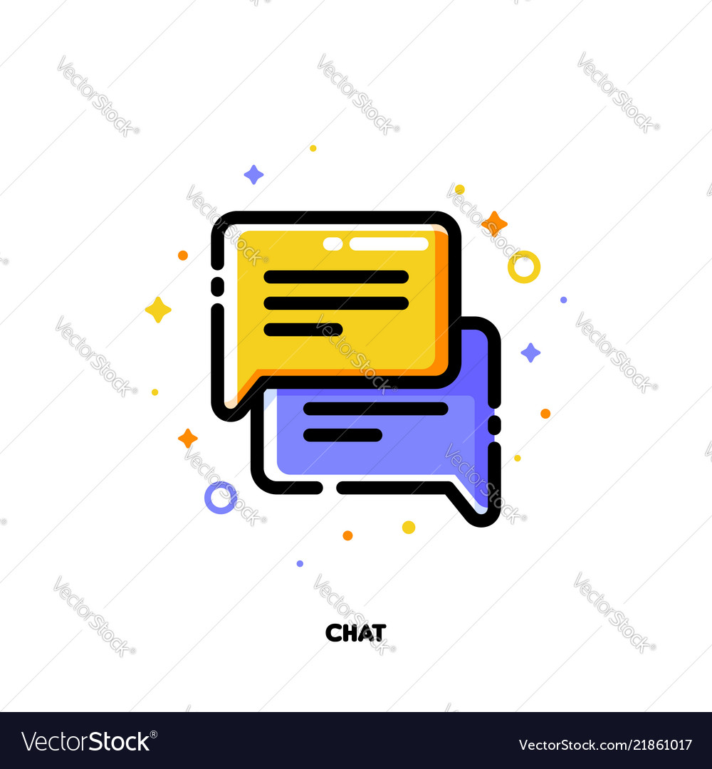 Icon of two speech bubbles for help chat