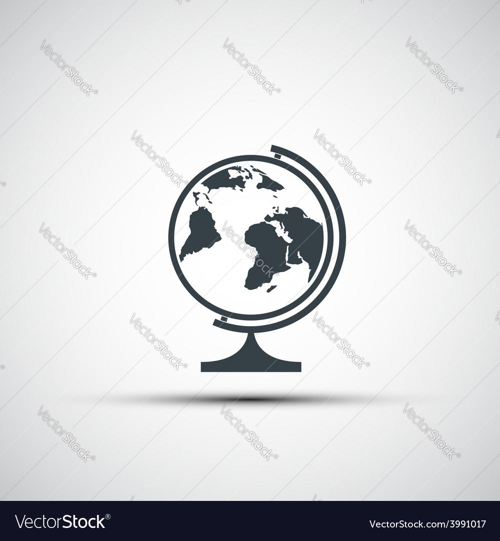 Icons of school globe