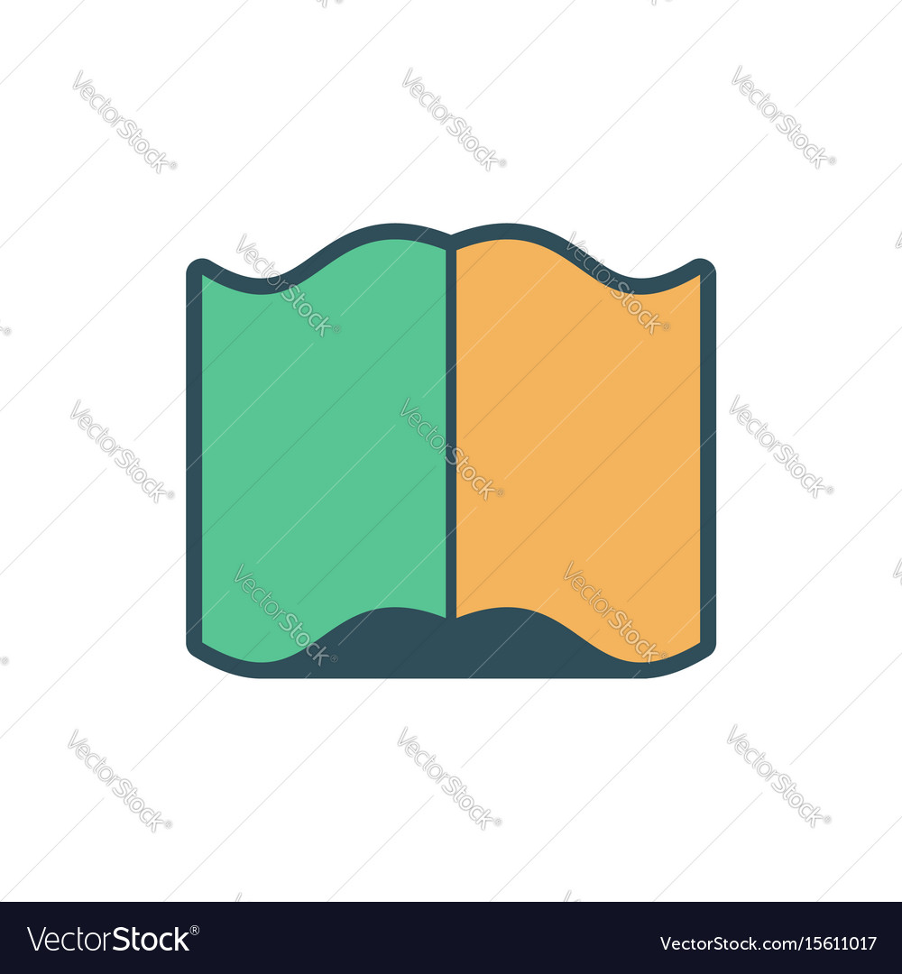 open book sign opened old volume on white vector image