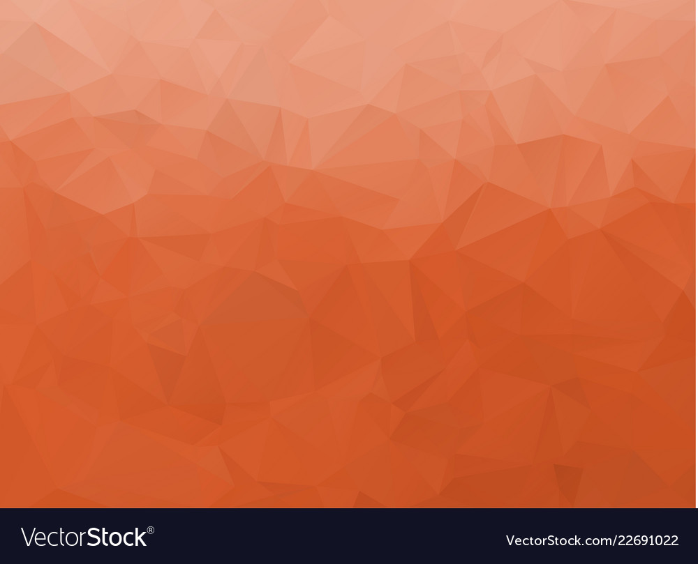 Abstract white and orange polygonal background
