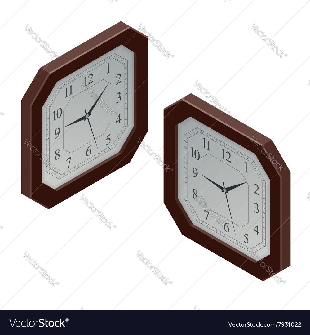 Clock isometric clock design concept