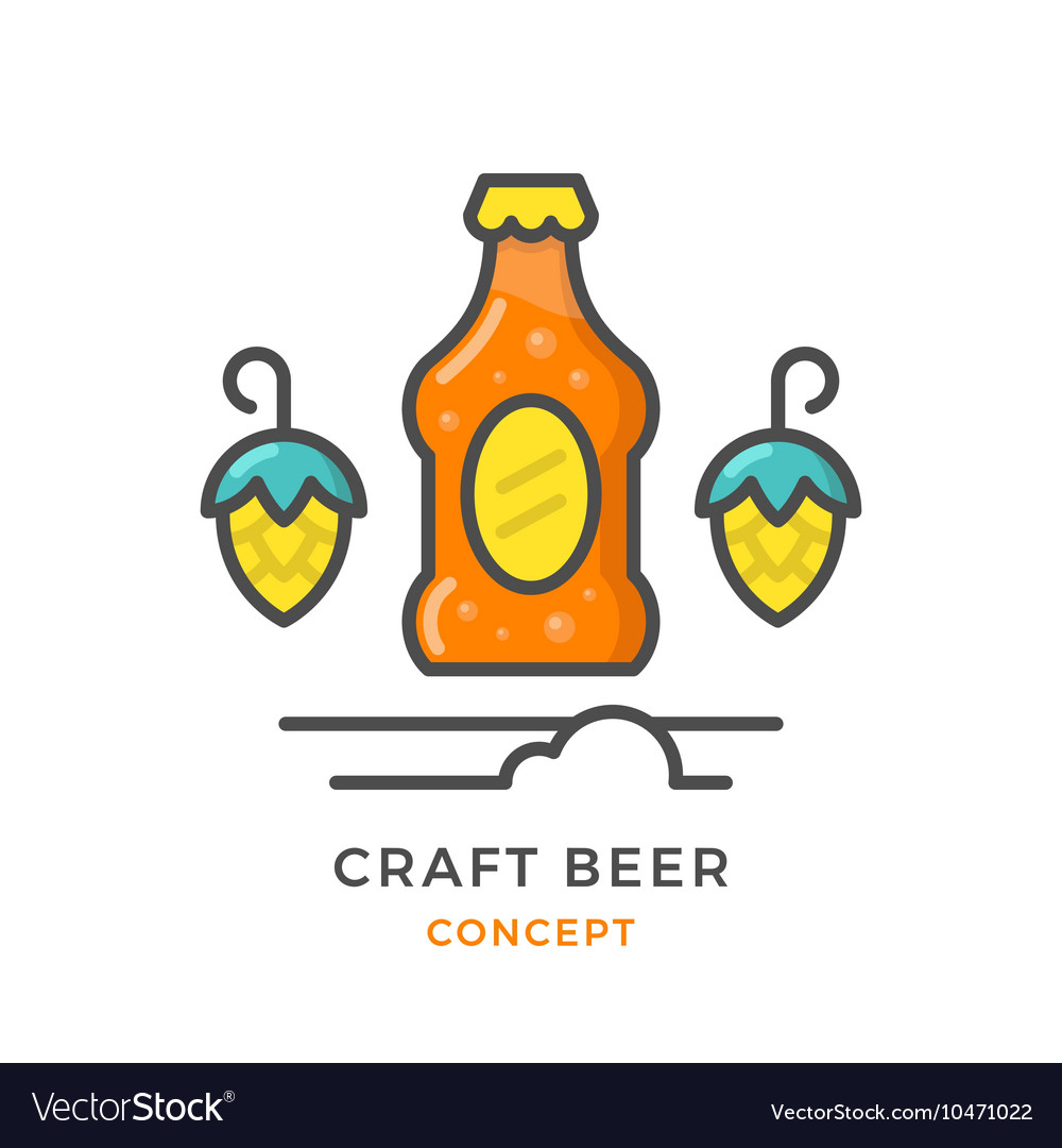 Craft beer concept vector image