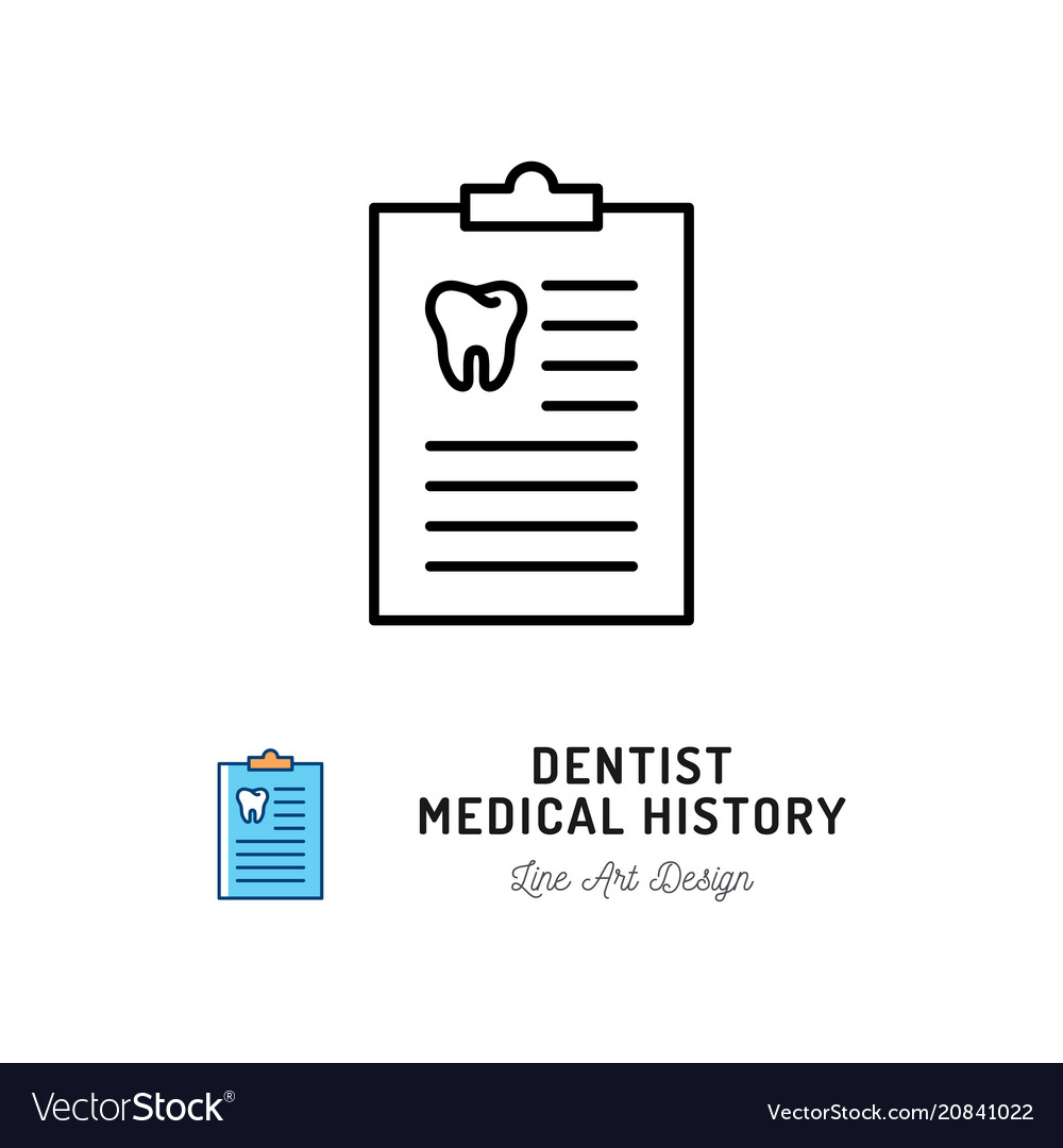 Dentist medical history icon dentists notebook