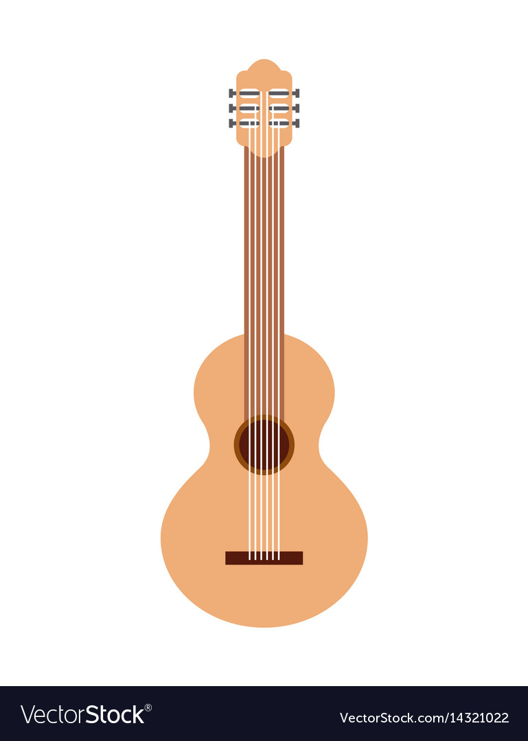 Guitar musical instrument icon vector image